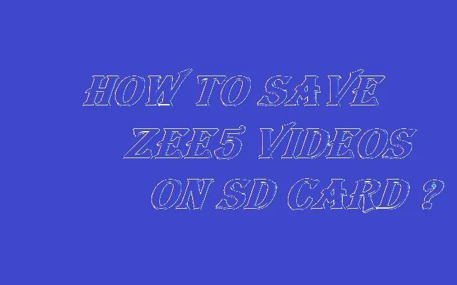 zee5 downloader 2021