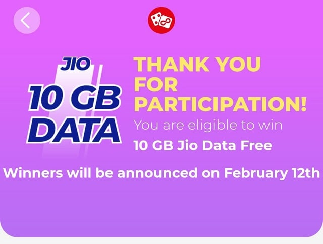 My Jio Quiz Answer