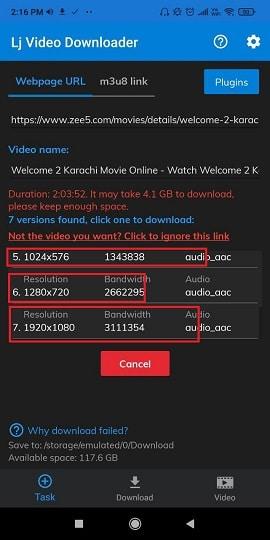 Download Videos from Zee5 Method 4.3